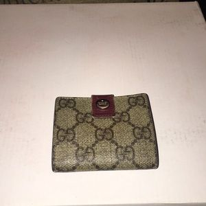 Vintage Gucci canvas coin pouch in good condition
